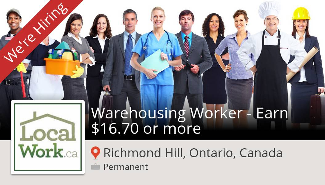 Apply now to work for #LocalWorkca as #Warehousing #Worker - Earn $16.70 or more! (#RichmondHill) #job https://t.co/yLTRrpEEpJ https://t.co/nFaYadq2oa