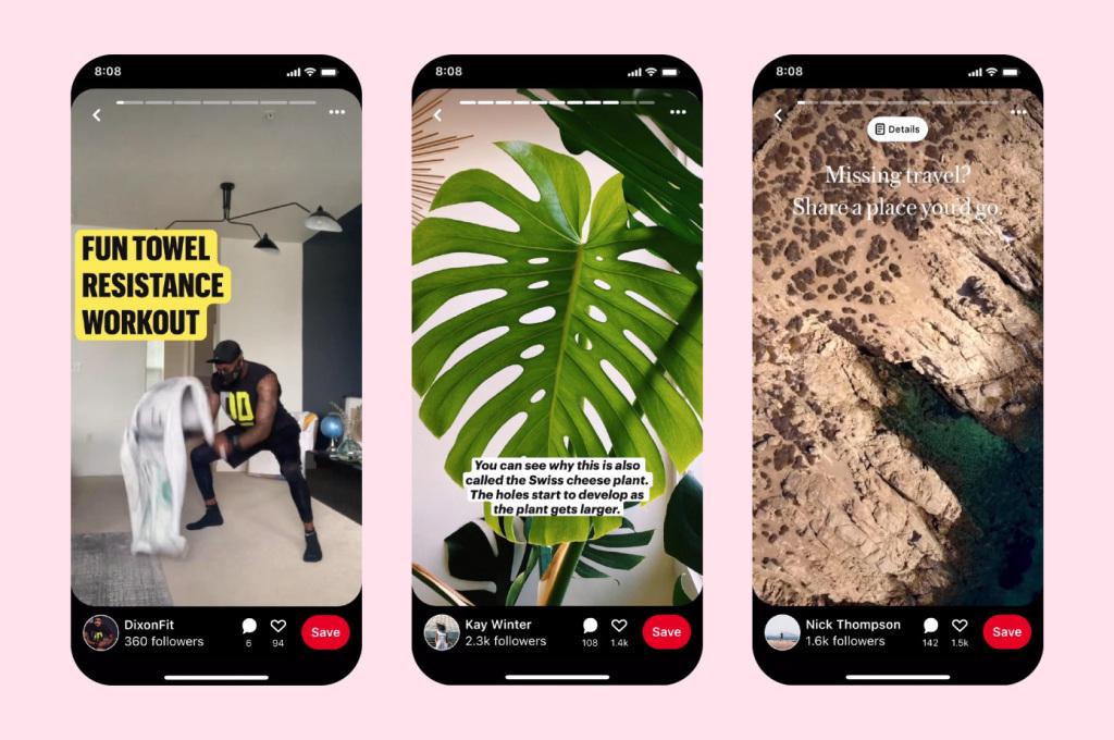 iOS 14の画面デザイン機能で注目のPinterestがストーリーピンのベータ版を正式に公開