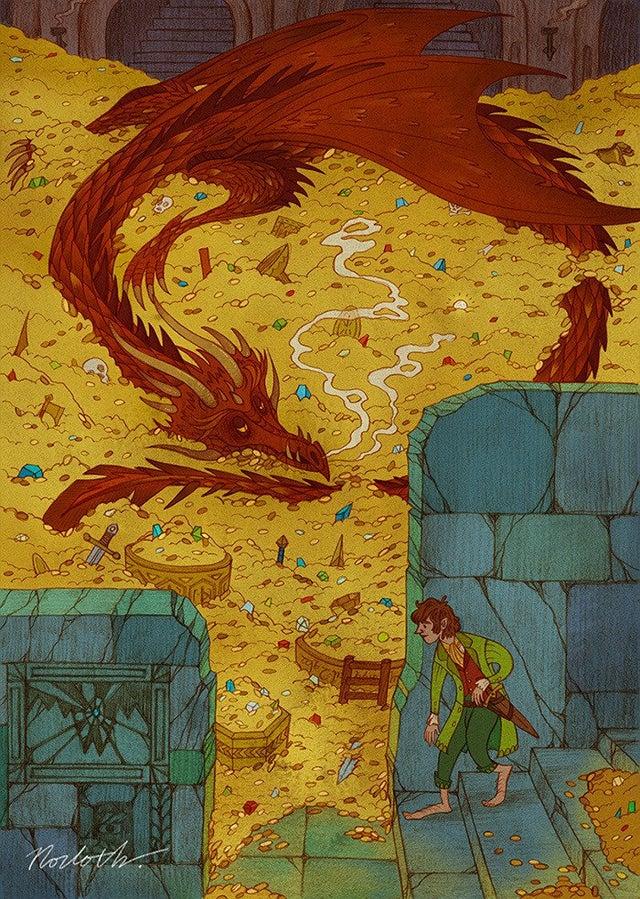 Bilbo and Smaug by Norloth https://t.co/0XVbshfV46
