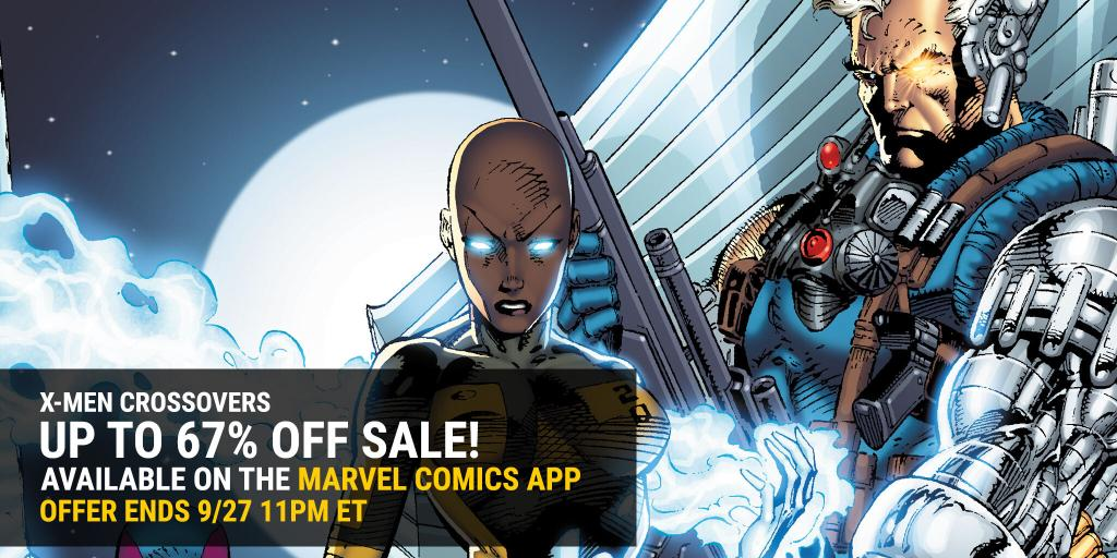 ❌ Your favorite X-Men crossovers, now on sale in the Marvel Comics app!