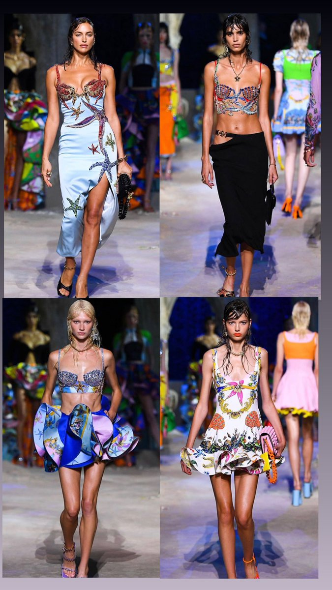 Come out your shell! 🐚 @Versace Can we say Donatella killed this #VersaceSS21 collection or what!  #VersaceLaMedusa #MFW #Versacepolis #Versace