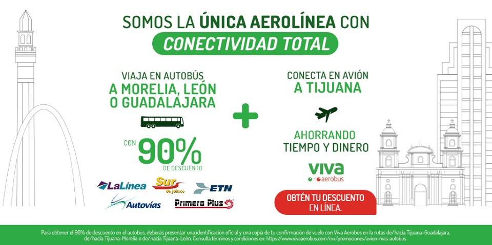 ✈️😉🚌 Porque te conectamos totalmente a tu destino. Viaja en autobús a cualquiera de estas rutas y obtén tu descuento en línea del 90%, además conecta en avión hacia Tijuana, ahorrando tiempo y dinero, ¡qué esperas! 👉 https://t.co/45K04SyhJE https://t.co/2uyn8uBNq1