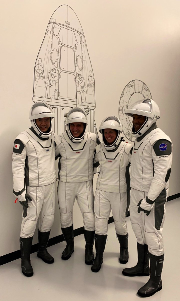 Crew-1 is complete with Dragon Rider training. We've got our license to fly! Thank you to all that made this possible. We hope to make you proud! https://t.co/HA2AYz77Bj