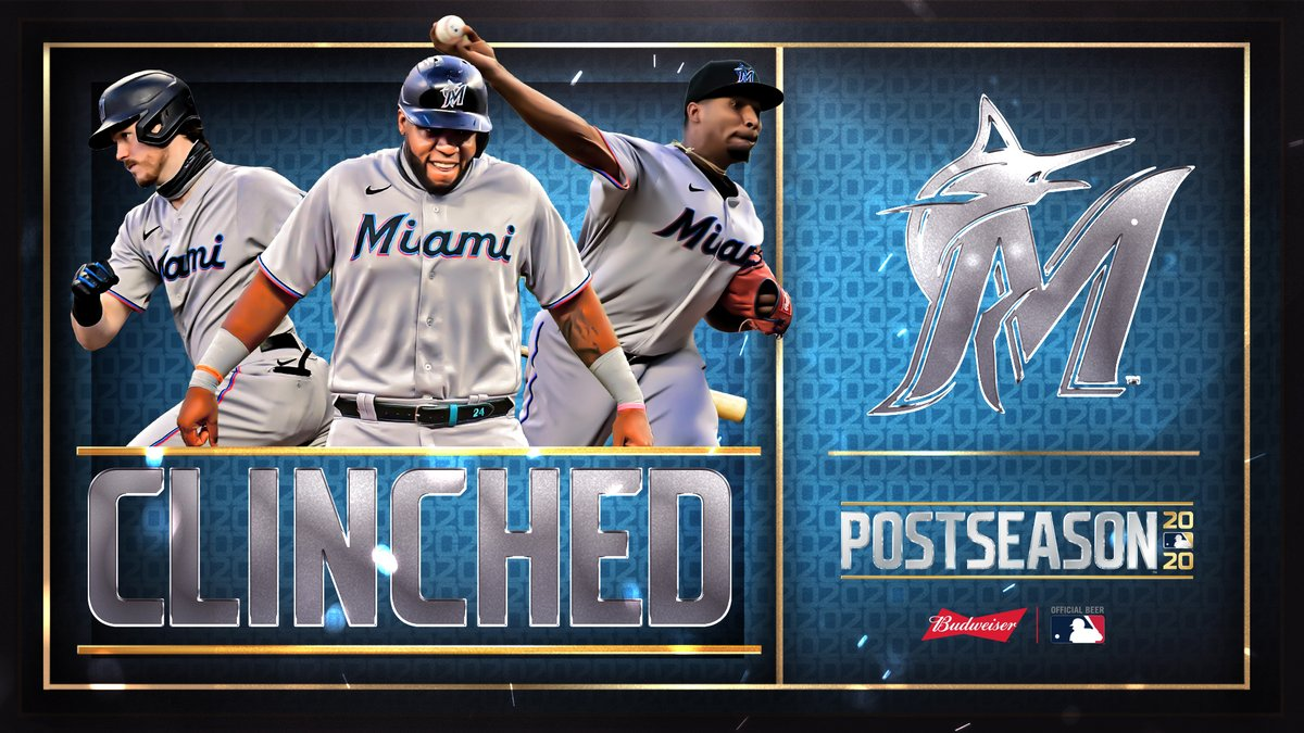 For the first time in 17 years, the @Marlins are in the postseason! #CLINCHED