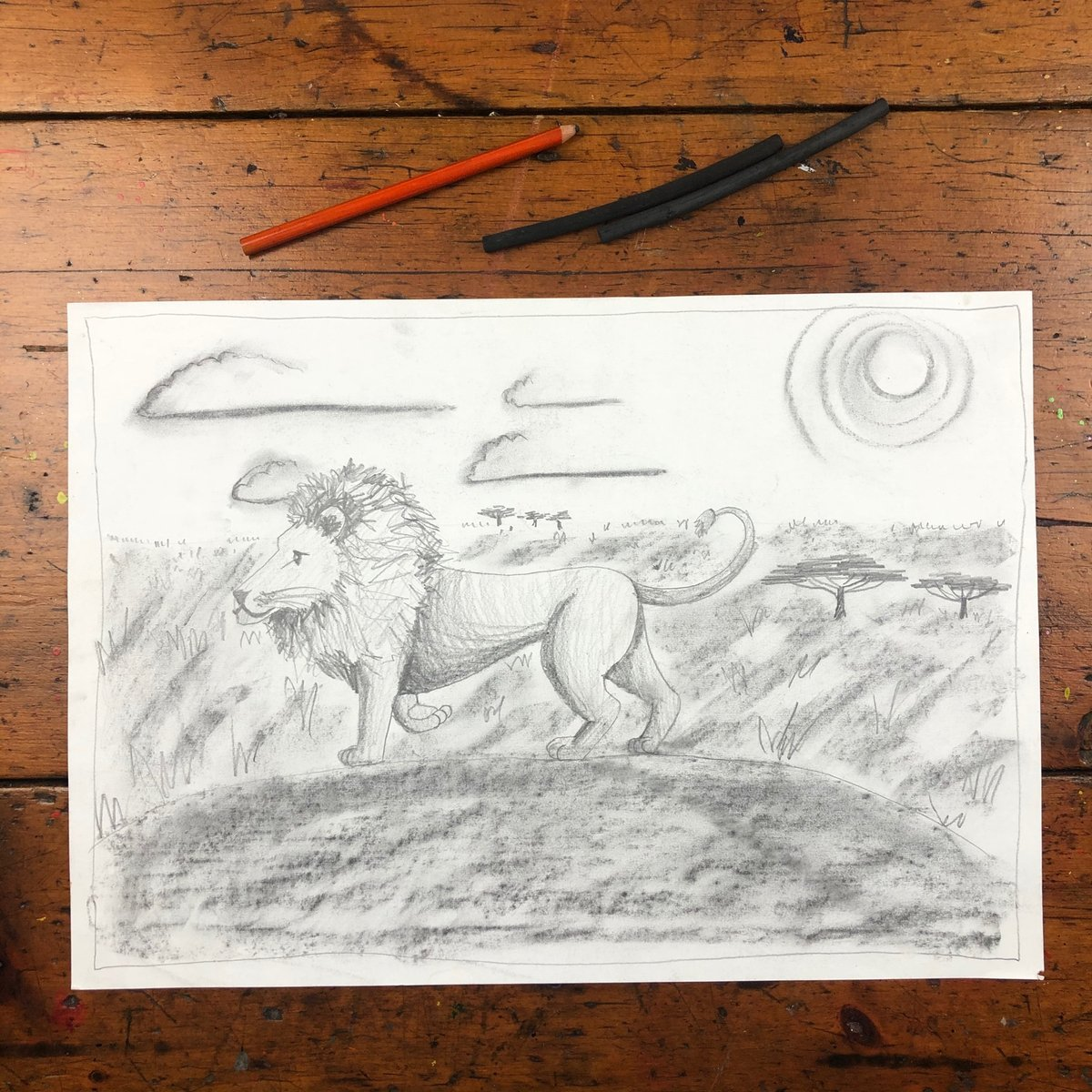 "THROWBACK: KIDS ART LESSON  Login to https://t.co/nf5DFPUdaf and search ""lion"" to check out this lesson.  #art #creativekids #kidsart #learntodraw  #kidsartclass #homeschool #primaryschool #elementaryschool #arteducation  #education #_artventure #lion #lionart https://t.co/ncRe7FkCae"