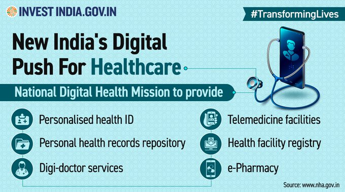 #TransformingLives   National Digital Health Mission — A holistic healthcare scheme which will strengthen the accessibility and equity of healthcare services in #NewIndia through a 'citizen-centric' approach. Learn more: https://t.co/GvGWircaSV  #AatmanirbharBharat #InvestInIndia https://t.co/AvPuPxBDwc