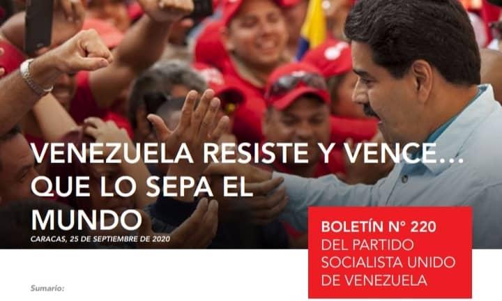 VENEZUELA RESISTE Y VENCE.. ¡QUÉ LO SEPA EL MUNDO!   Descarga, lee y comparte  la edición N° 220 de nuestro #BoletínInformativo AQUÍ --> https://t.co/wxASqJ4fNe    @NicolasMaduro @eduardopiate2 https://t.co/K5lixQ1LPF