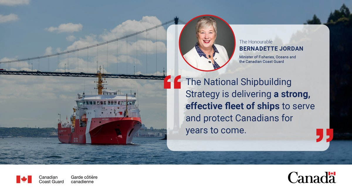 Canadian Coast Guard On Twitter The Delivery Of This Third Offshore Fisheries Science Vessel Marks The Completion Of The First Class Of Large Ships Built Under The Nationalshipbuildingstrategy The Honourable Bernadette
