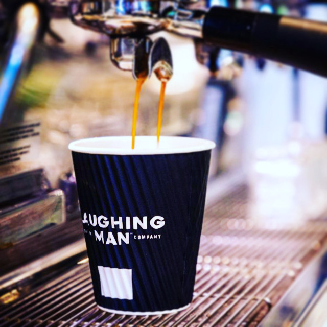 Nothing like a fresh brewed cup of #LaughingManCoffee. Especially as the weather is starting to get chillier. Start your morning with a smile and remember: #allbehappy! . . . . . #makeeverycupcounts #tribeca #nyc #coffeeshop #coffeelover #fairtrade #sustainable #ethicallygrown