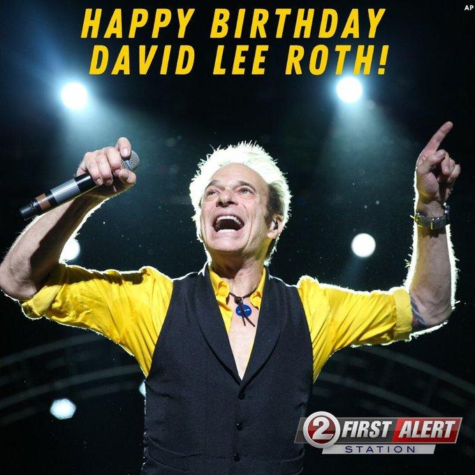 Happy 66th Birthday to former Van Halen singer David Lee Roth!