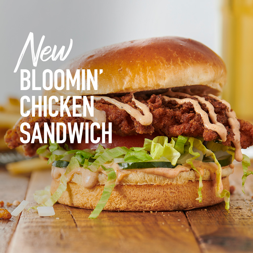Outback Steakhouse When You Wish Upon A Bloom You Get The Bloomin Fried Chicken Sandwich Now On Our New Menu Letsoutback