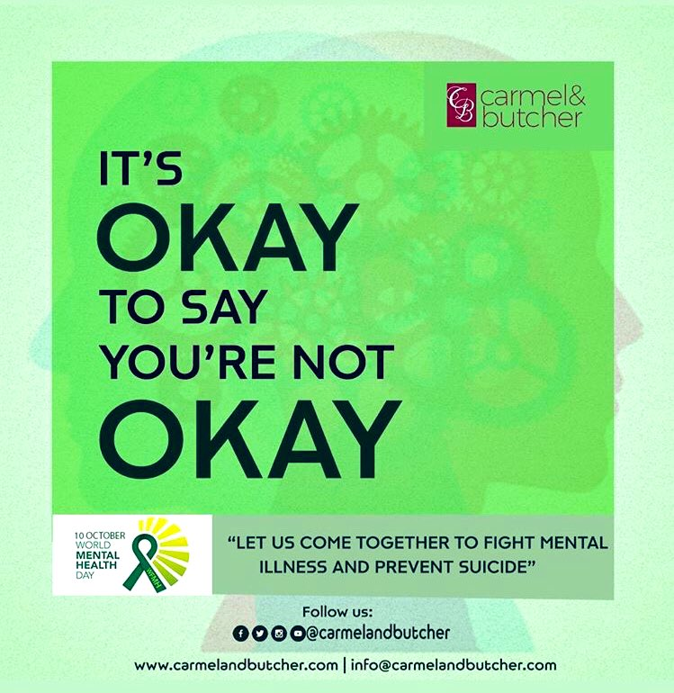Your mental health is a priority. Your happiness is essential. Your self-care is a necessity. Find people you can talk to and seek professional help when things get too much.  #WorldMentalHealthDay  #carmelandbutcher #culture #life #beauty #style https://t.co/8O6pTc5Ldj