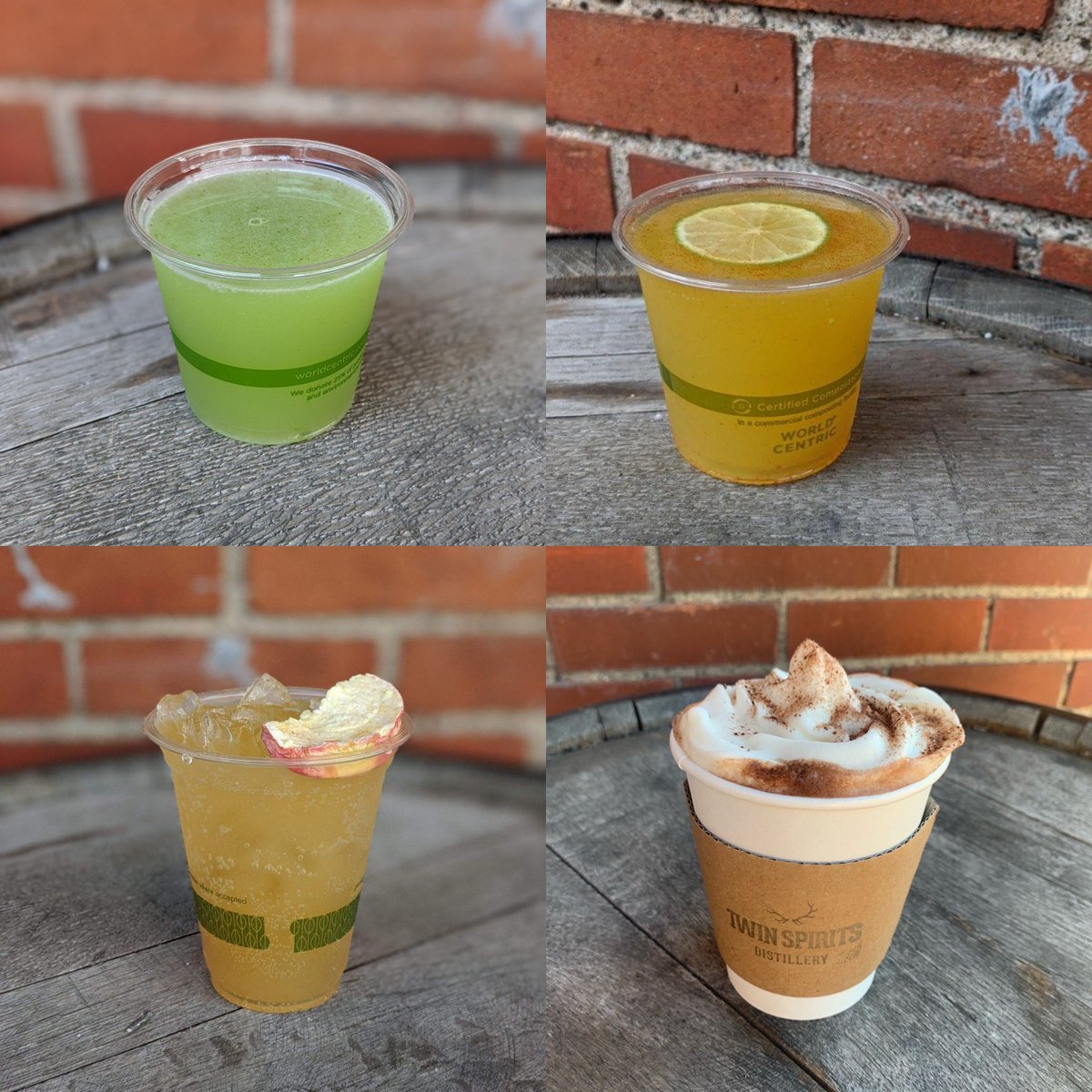 Yummy drinks can be at your socially distanced table on our patio on this glorious fall day/evening! #womanowned #womenmade #womenbartenders #womendistillers #northeastminneapolis #bestofmn
