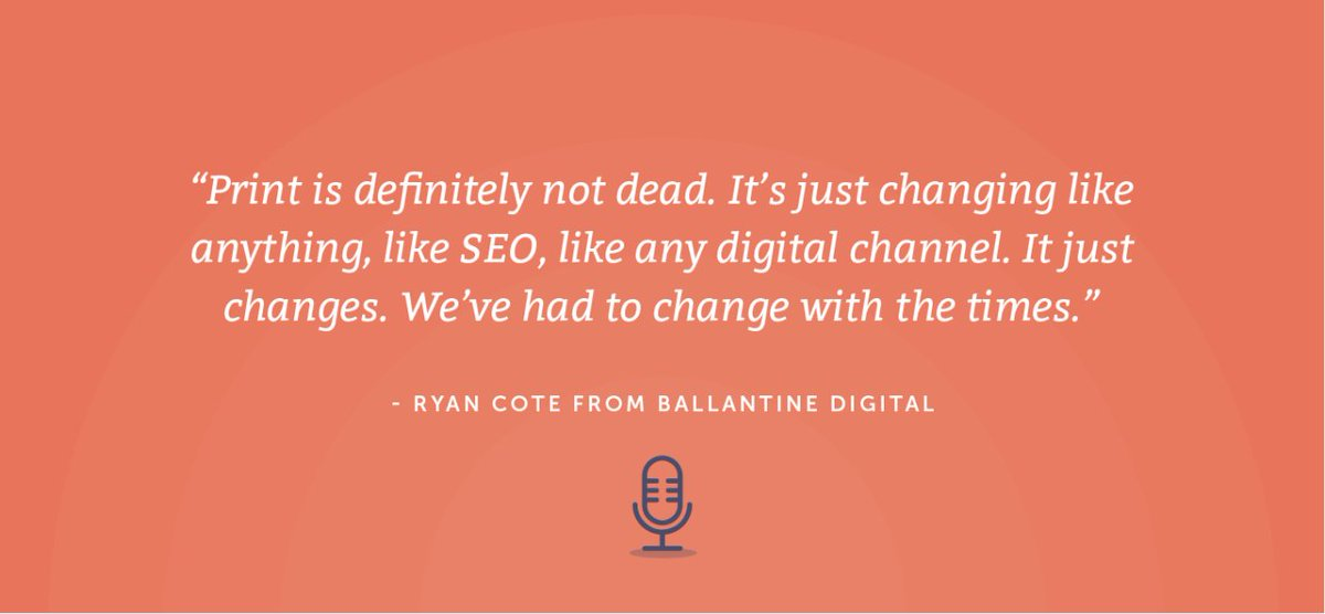 @ryancote shares why he believes print is not dead. What do you think? cos.sc/3nsXeU4