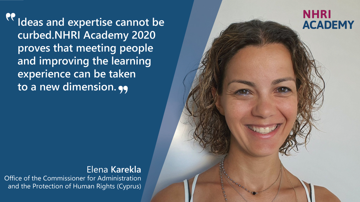 #HumanRights perspective on #migration is the focus of this year's #NHRIAcademy, which started last week. 'Ideas and expertise cannot be curbed' - this is how Elena from Cyprus describes her first days as a participant. Learn more here ➡️ https://t.co/UJFaf0LGDF. https://t.co/h0y2qWv6if