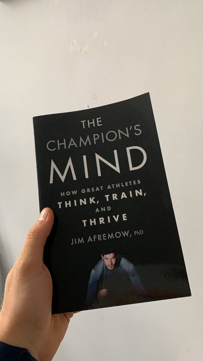 New read!! The Champions Mind - Jim Afremow Looking forward to this one. 🧠