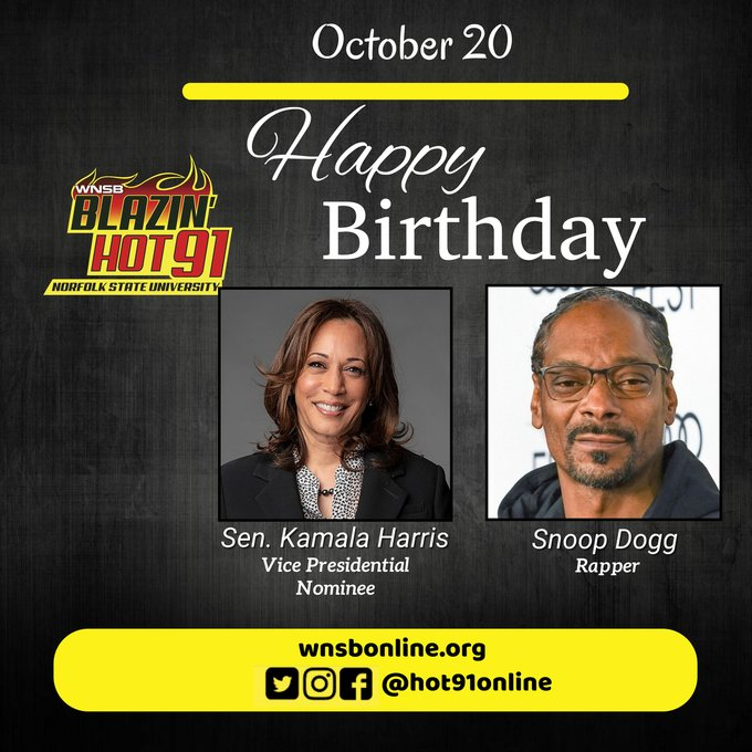 Happy Blazin\ Hot Birthday to Sen. Kamala Harris and Snoop Dogg