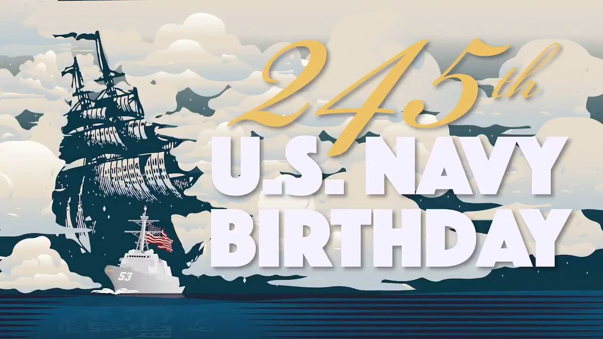 As #Sailors, we've always been #AmericasAwayTeam, and today, after 245 years, we continue to stand the watch at home and around the world. Couldn't be more proud of the work our @USNavy does each and every day. Happy 245th Birthday, Shipmates! ⚓️🚢🦅