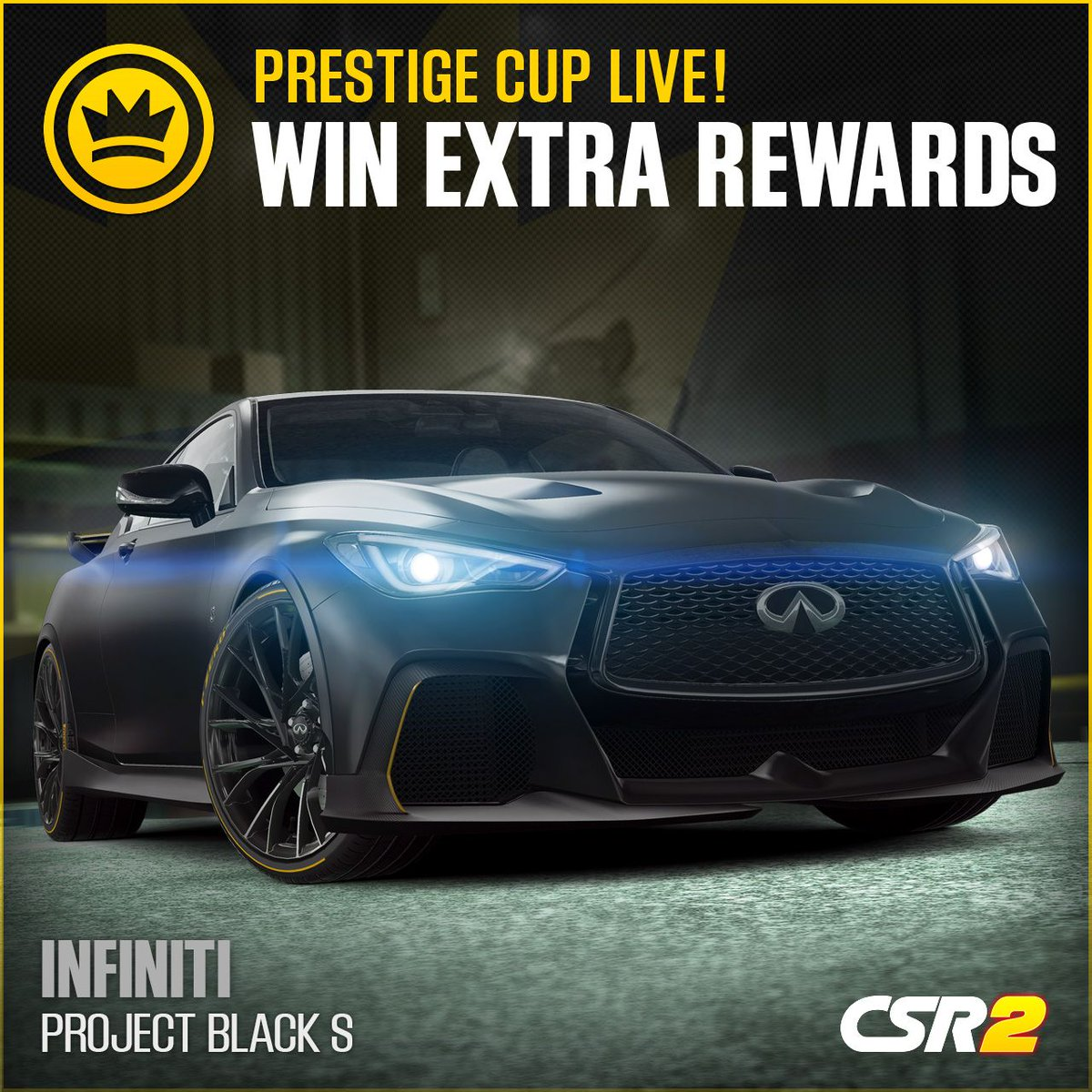 The Infiniti Q60 Project Black S is a balance of design and innovative technology. You got what it takes? #CSR2 https://t.co/dj9FRCQj2i