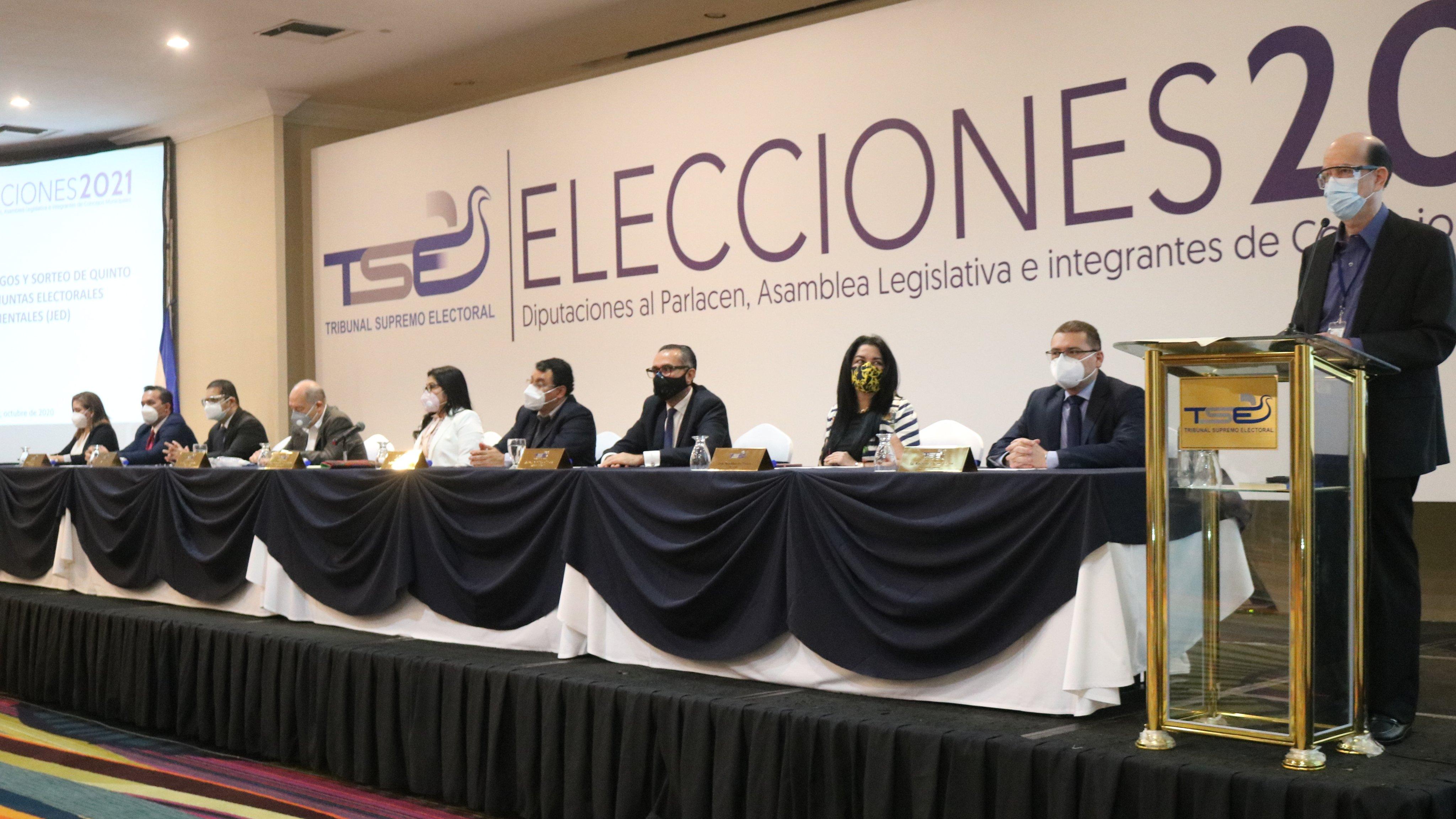 TSE distribuye posiciones en Juntas Electorales Departamentales