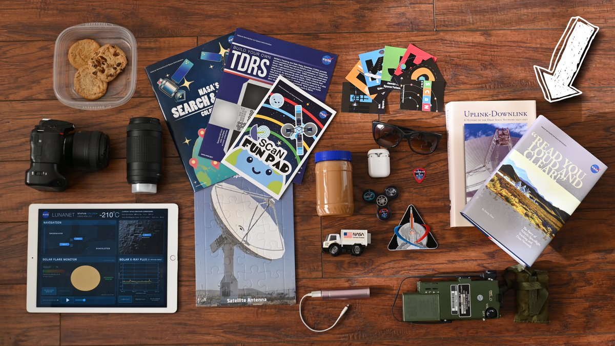 What are you packing in your #NASAMoonKit? NASA SCaN is packing some favorite books! @NASAhistory has published a bunch of wonderful books about the amazing legacy of NASA's networks. 📚 Read You Loud and Clear: go.nasa.gov/3nn73Th Uplink/Downlink: go.nasa.gov/3nqfvky