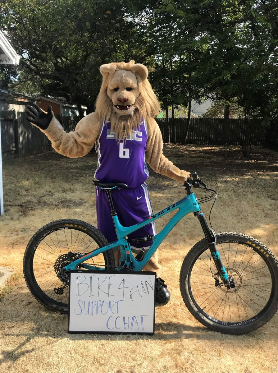 More Bike 4 Fun love from our community! @SlamsonTheLion of the @SacramentoKings wanted to let our CCHAT riders know that he's riding with them! @Kings_Community #SacramentoProud ❤🚴♂️🚴♀️  Join Slamson in supporting Bike 4 Fun & our children w/ hearing loss: https://t.co/5OxxLoHmy9 https://t.co/2hW7sArOEw