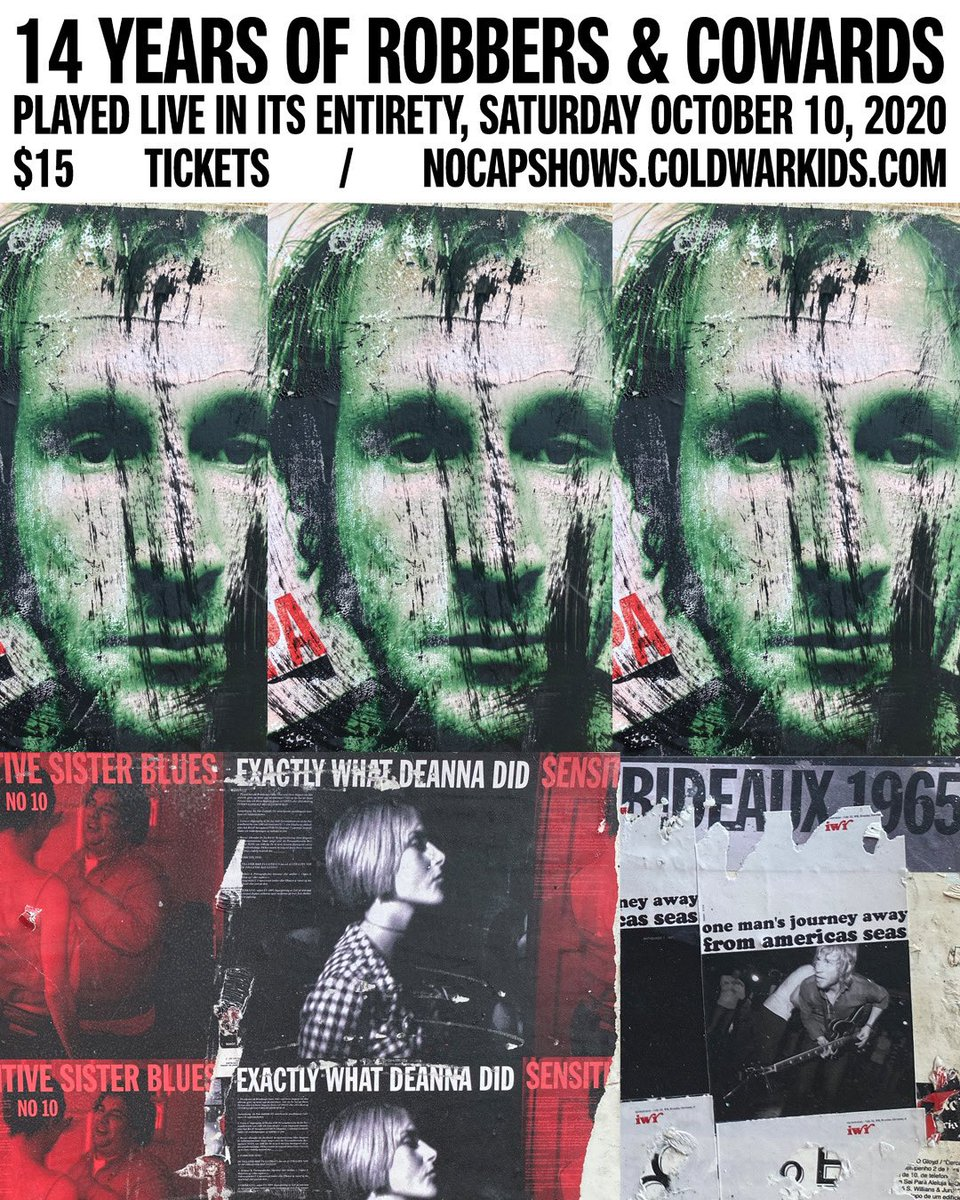 ROBBERS & COWARDS ANNIVERSARY SHOW THIS SATURDAY. Playing the album in FULL. Tickets available now at https://t.co/KfgdXFnZkm https://t.co/HxsE9xCpSu