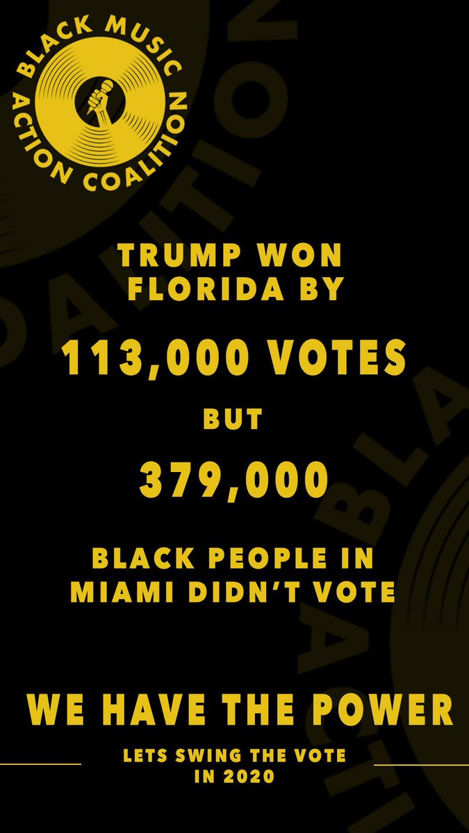 #Florida #WeHaveThePower #BlackVotesMatter #BlackMusicMatters #BlackLivesMatter