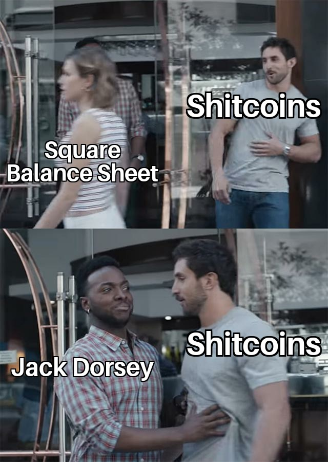 jack dorsey saying no to shitcoins
