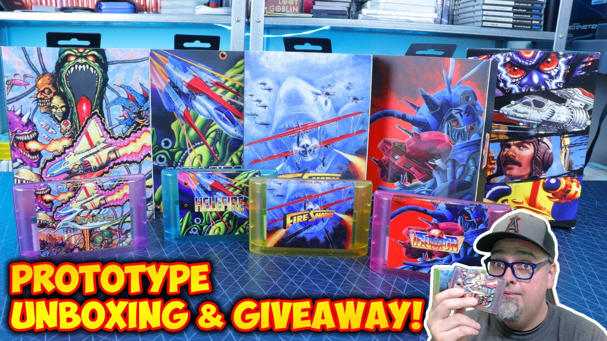 Wanna take a quick look at what comes with the @RetroBitGaming Toaplan Shooters Collection for the Sega Genesis? And also have a chance to win a complete set in my giveaway? Check out my latest video here: