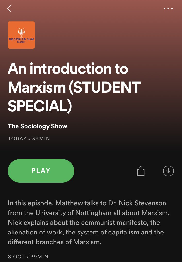 Worth a listen for year 12 and 13 #Marxism @SociologyThe