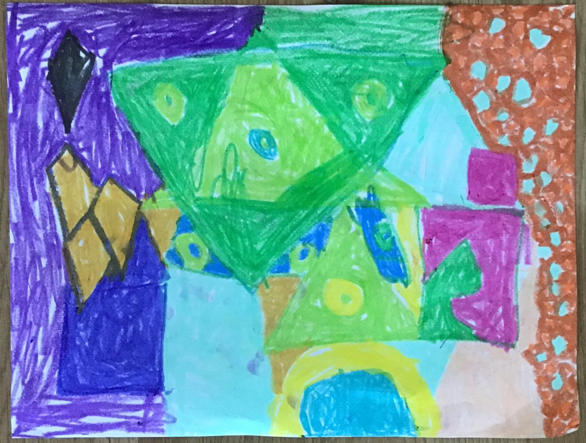 K and 1st All Stars Artists are learning about using shapes in art inspired by artist Sonia Delaunay <a target='_blank' href='http://twitter.com/APSArts'>@APSArts</a> <a target='_blank' href='http://twitter.com/HFBAllStars'>@HFBAllStars</a> <a target='_blank' href='http://twitter.com/gzaberer'>@gzaberer</a> <a target='_blank' href='https://t.co/uy6UFPpSQo'>https://t.co/uy6UFPpSQo</a>