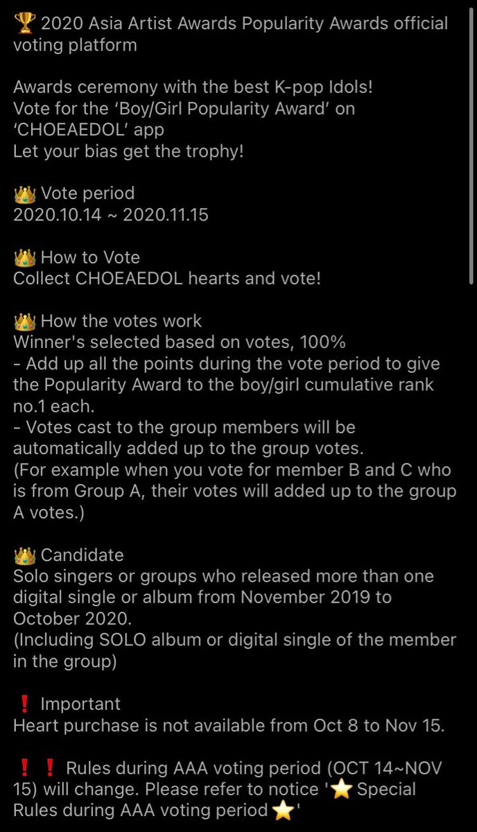 Thread By Oneusvoting Aaa Voting Step By Step Guidevoting For Asia Artist Awards Popularity Award Will Start