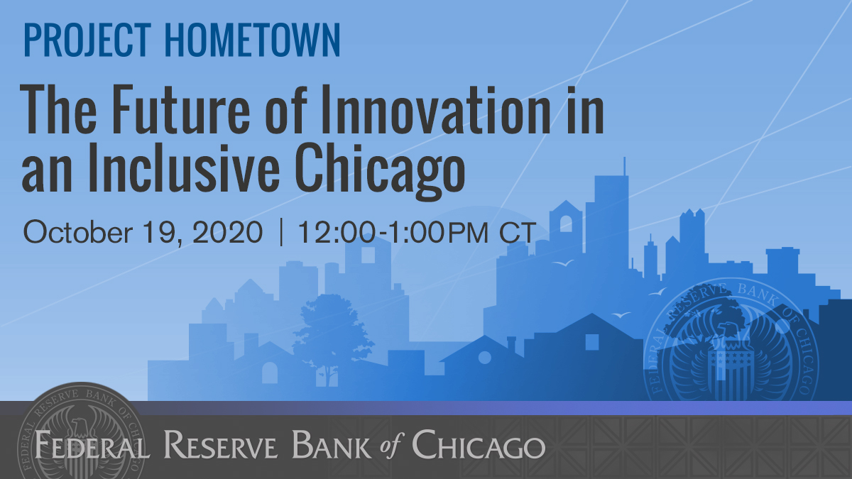 How can Chicago's history as a global innovation hub continue into the future and include all residents? Hear from an expert panel Oct 19 @ 12:00 pm CT at the #ProjectHometown event: The Future of Innovation in an Inclusive Chicago. Register here: https://t.co/Zo9H86o1gr https://t.co/S448tqocHa