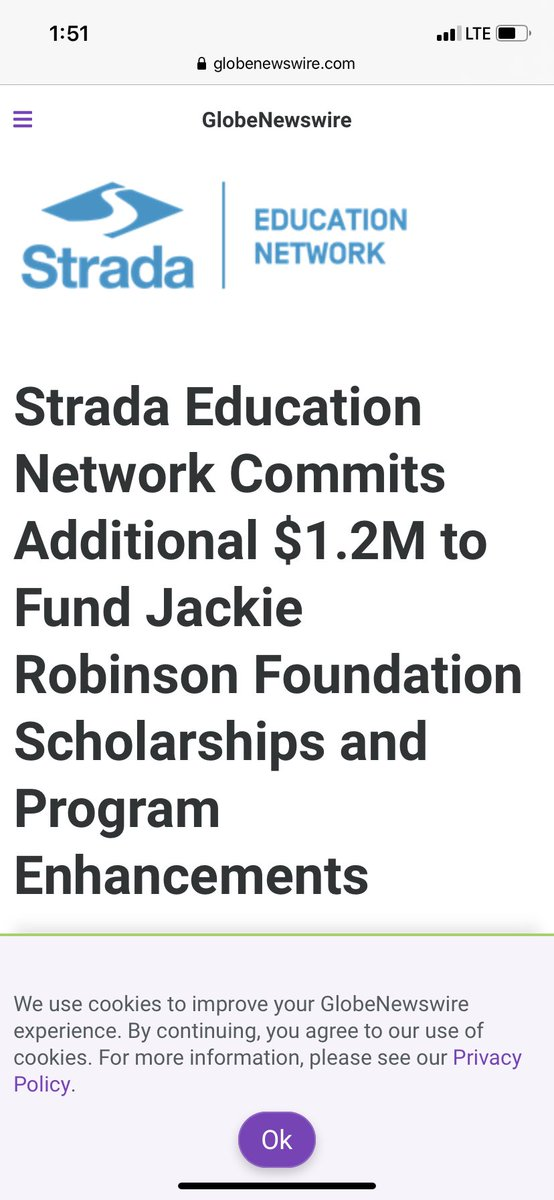 Thankful to @stradaeducation for their continued support of the JRF mission! globenewswire.com/news-release/2…