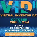 Image for the Tweet beginning: Virtual Investor Day is taking