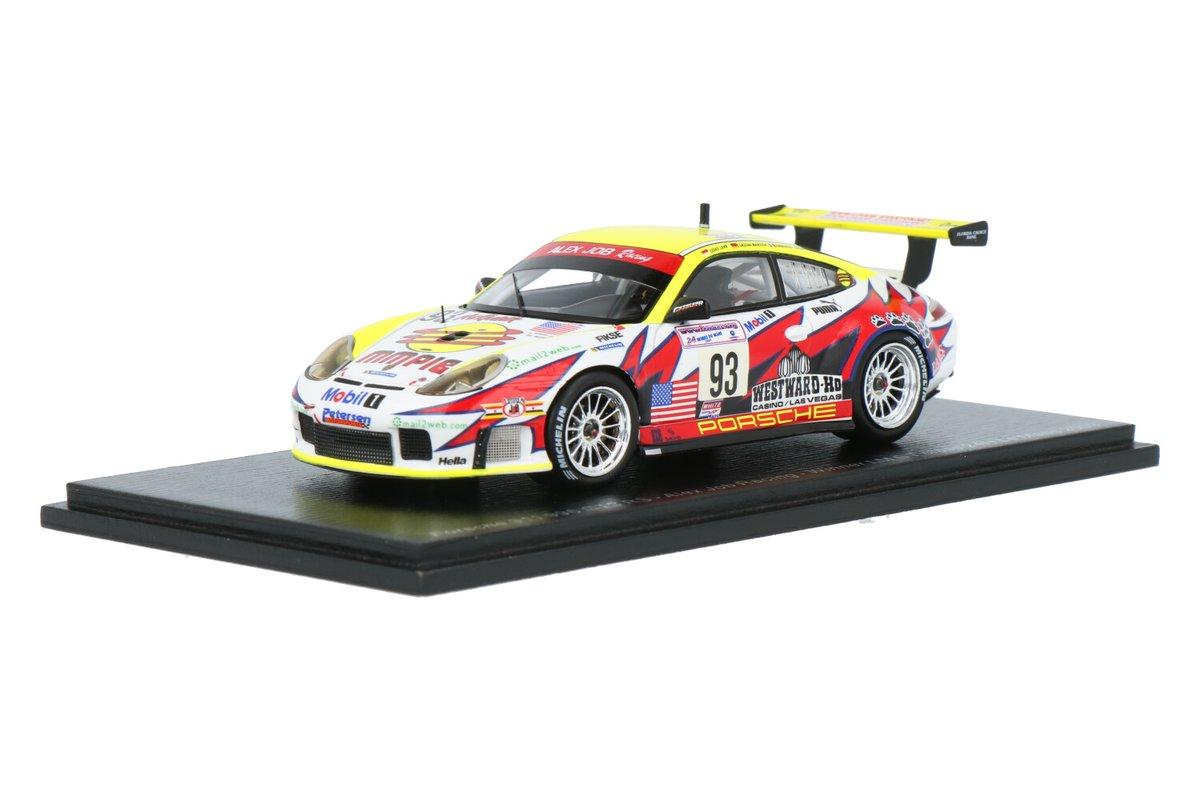 Nieuw: Porsche 911 GT3 #Porsche #Spark #24HLeMans #AlexJobRacing #SaschaMaassenEmmanuelCollardLucasLuhr #2003 #93 #WinnerLMGTClass #modelcars https://t.co/9g425CfTUN https://t.co/PPBSWz4KpN