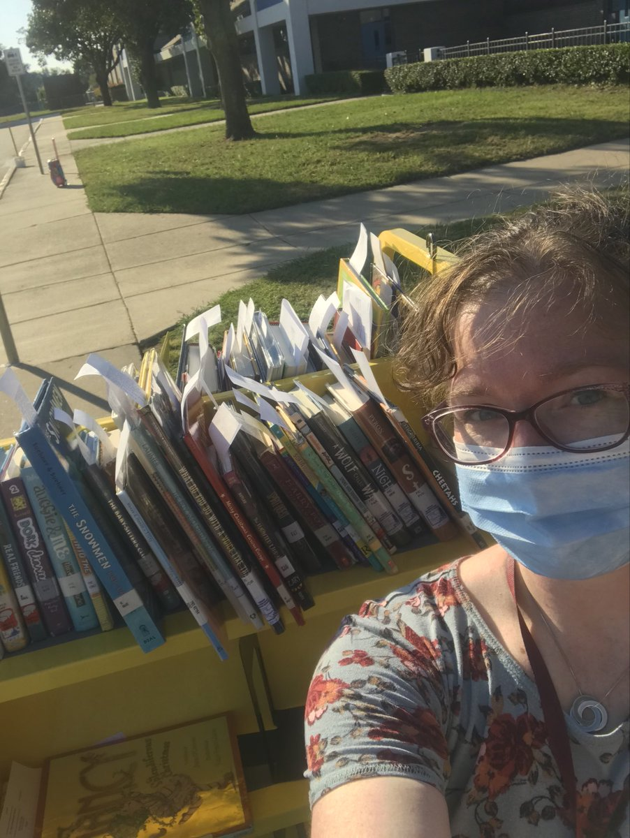 Library book curbside pick up from 5-6 PM tonight @KentCardinals