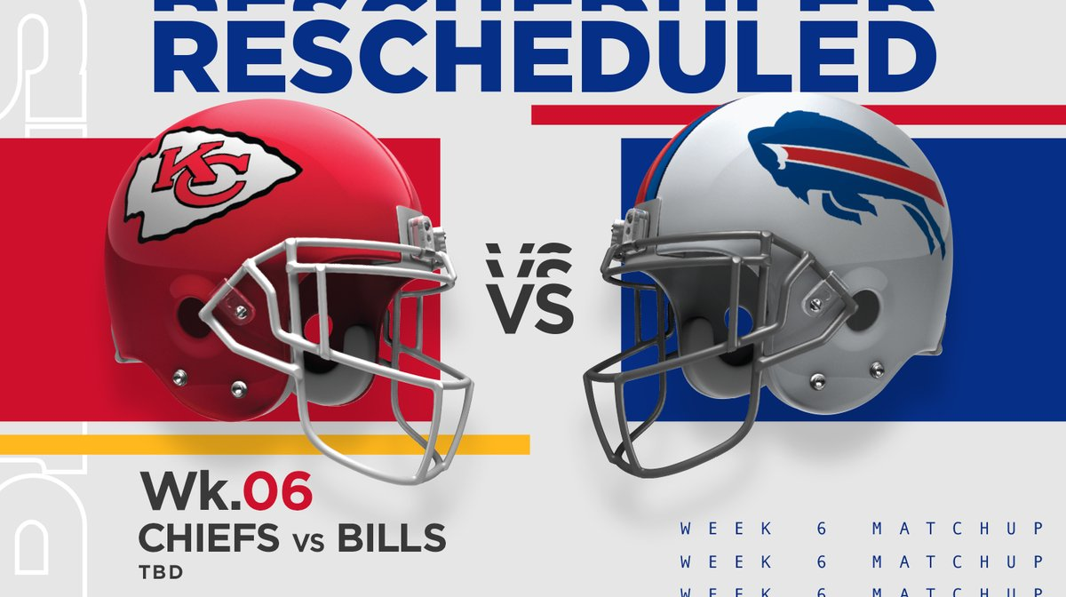 Buffalo Bills On Twitter Should Bufvsten Be Played On Tuesday Night Our Week 6 Game Against The Chiefs Scheduled For Thursday October 15 Will Be Moved To Later In The Weekend Https T Co Xgihtp1wku