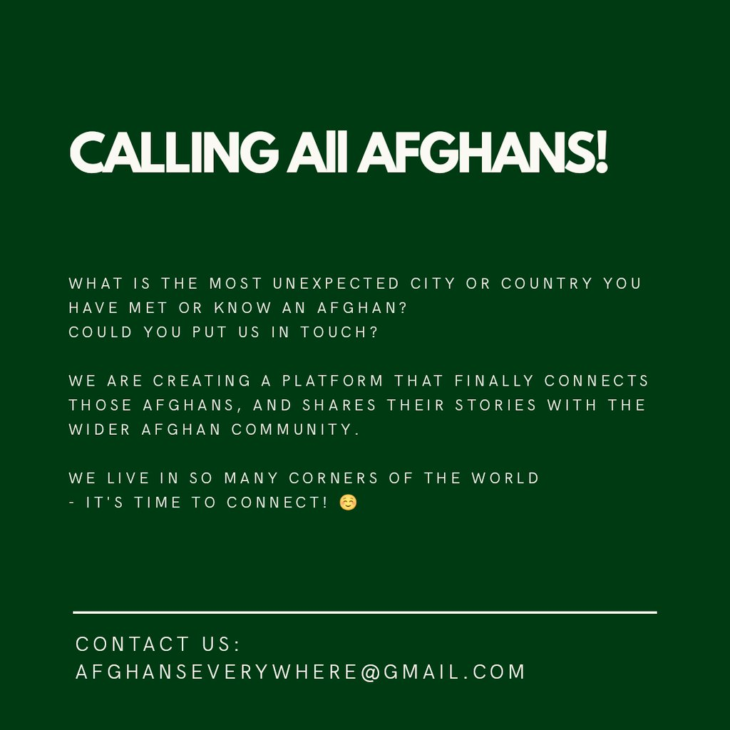 🇦🇫 AFGHANS, friends of Afghans, those curious about Afghans...please read, please share 🇦🇫