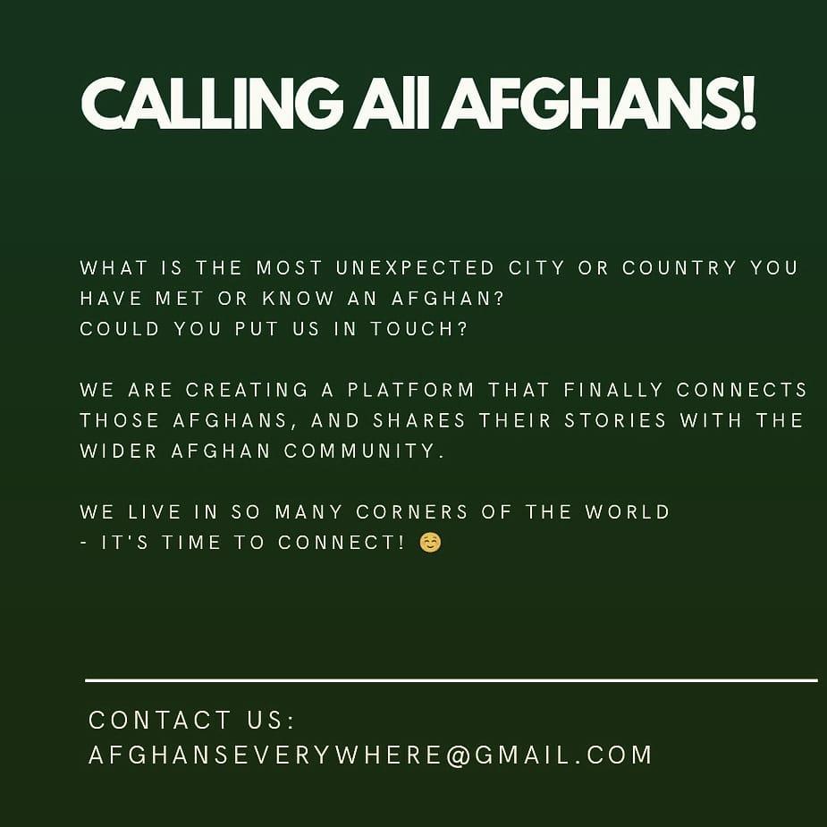 Please email afghanseverywhere@gmail.com or DM on ig @afghanseverywhere