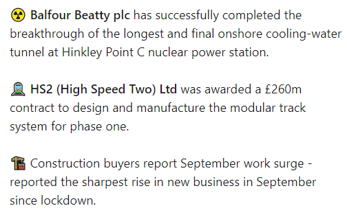 🆕 News worth knowing 🆕 #construction #engineering #HS2 #HinkleyPointC