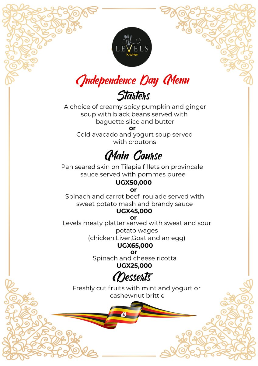 Levels Kitchen On Twitter On This Independence Day Why Not Celebrate It The Levels Kitchen Way With Our Special Menu Of The Day Come Through And Check It Out For Enjoyment Ku