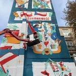 Image for the Tweet beginning: Wstęga przecięta! Warszawski mural z