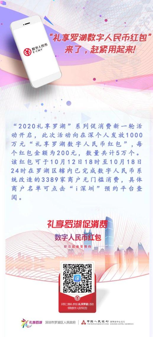 昨日、中国人民銀は中国の深セン市で1.5兆円の仮想通貨を配布した。深センの羅湖区市民はくじ形式で各自約3000円の仮想通貨を貰い、それらを使ってショッピングや食事に使える。#楊暁帆の中国投資情報
