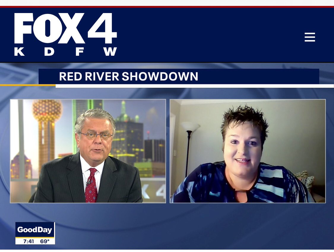 Executive Director @MPaul_BigDSport joined @tryanfox4 this AM for a virtual update on the historic AT&T Red River Showdown!! 🏈👏🎥.  #DallasBIGWins #RedRiverRivalry https://t.co/cQfNmYGAcX