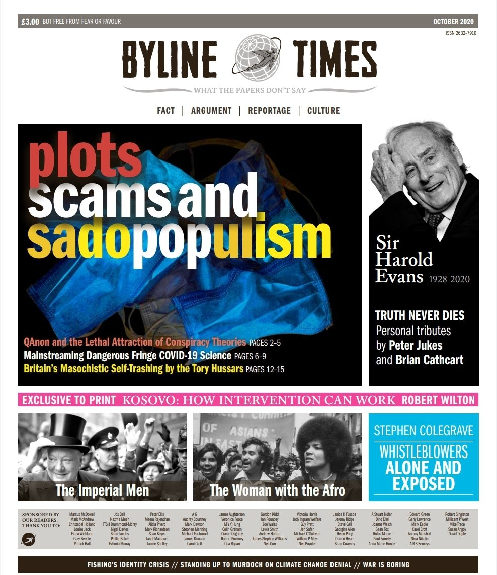 The October @BylineTimes print edition. Dedicated to Sir Harold Evans. Because truth never dies.  https://t.co/VN52XqNw1O https://t.co/mEl6d0Y7lW