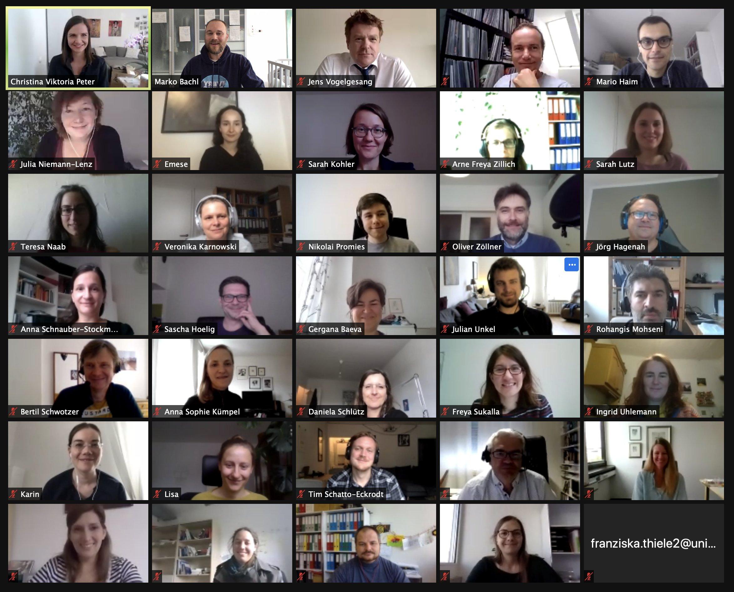 Virtuelle Sitzung der FG Methoden