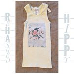 Image for the Tweet beginning: Upcycled baby singlet- #vintage &