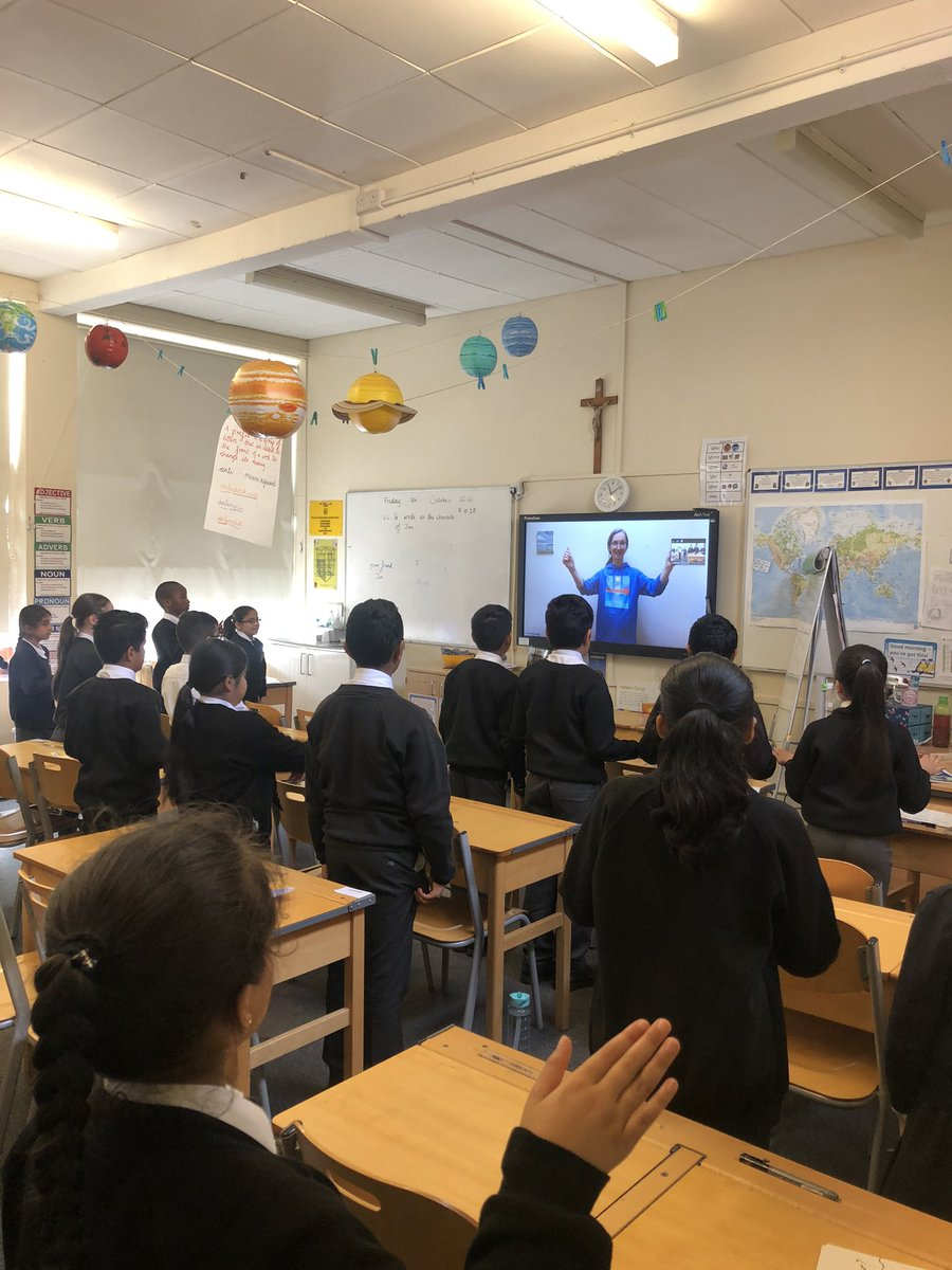 Year 5 enjoyed their musical zoom with Margaret @BBCSingers and @bbcproms A super session of rhythmic games and questions about being a professional singer. Thank you to Margaret and Gabrielle for organising. 🎶🎶🎶🎶 @SFE_MS #vocations @AskInvitePray @year_holy @StuartBirnie1